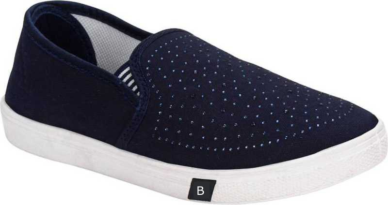 Stoc Blue Loafers For Women