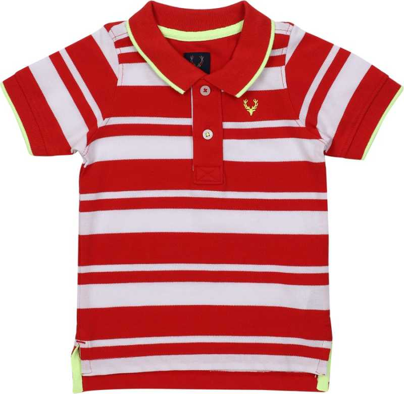 Boys Striped Cotton Blend T Shirt