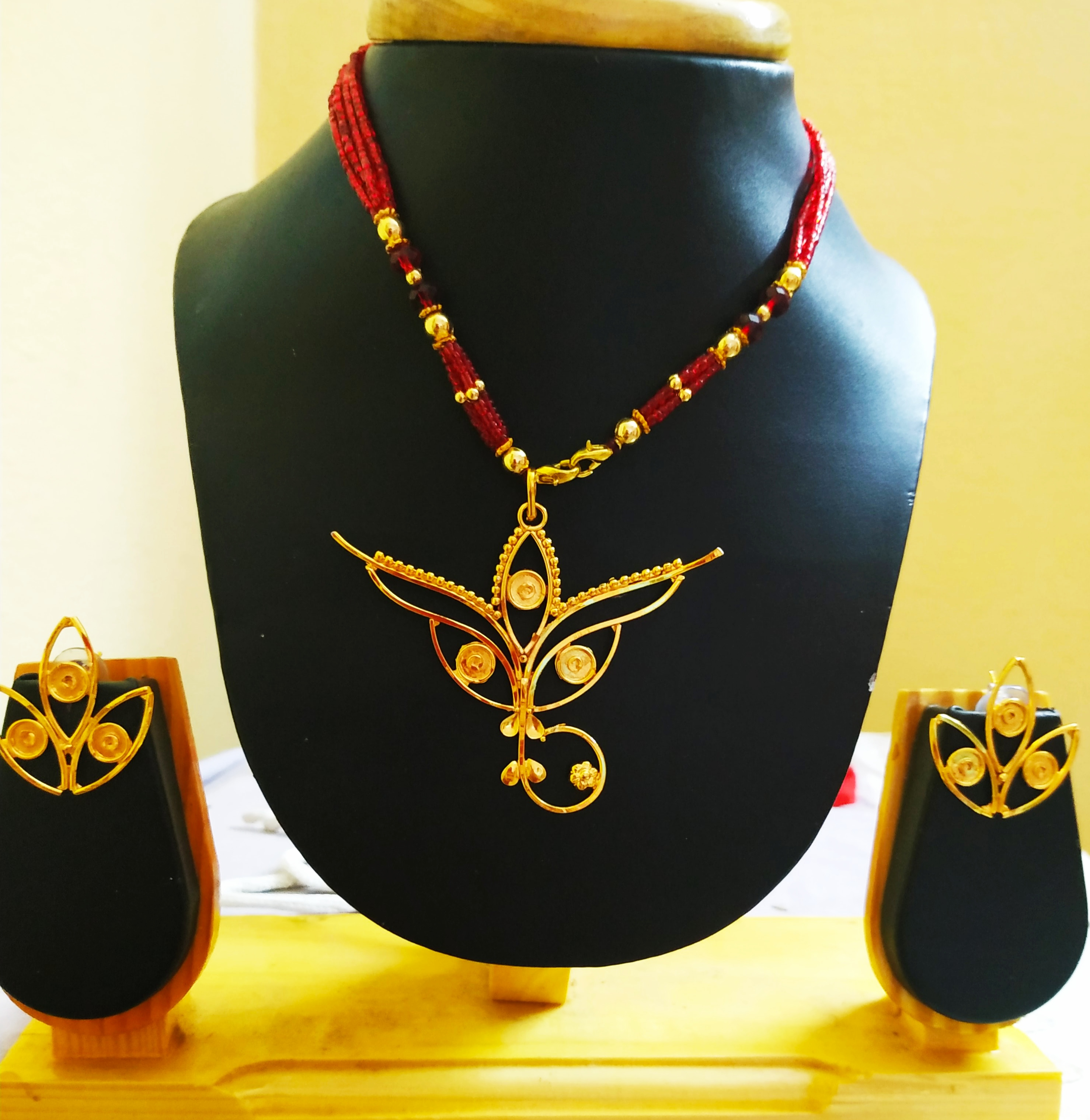 Gold Plated Designer Hand Crafted Necklace Set