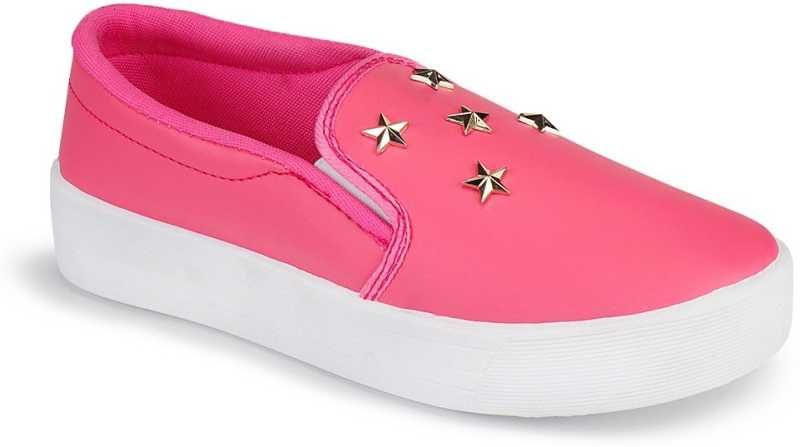 Stoc Pink Loafers For Women