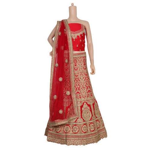 Womens Embroidered Lehenga Choli Set