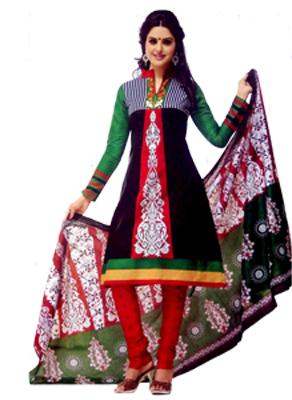 Stoc Bazzar Creation Cotton Printed Salwar Suit Dupatta Material  (Un-stitched)