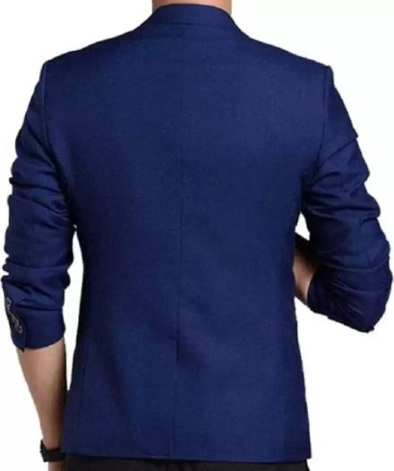 Solid Single Breasted Festive Full Sleeve Blazer