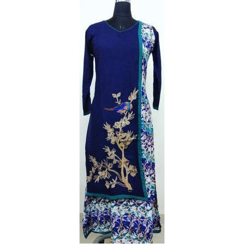 Multi color chiffon long kurti 54AE535KCH