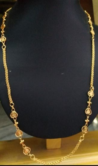 One Gram Gold Plated Design Chains
