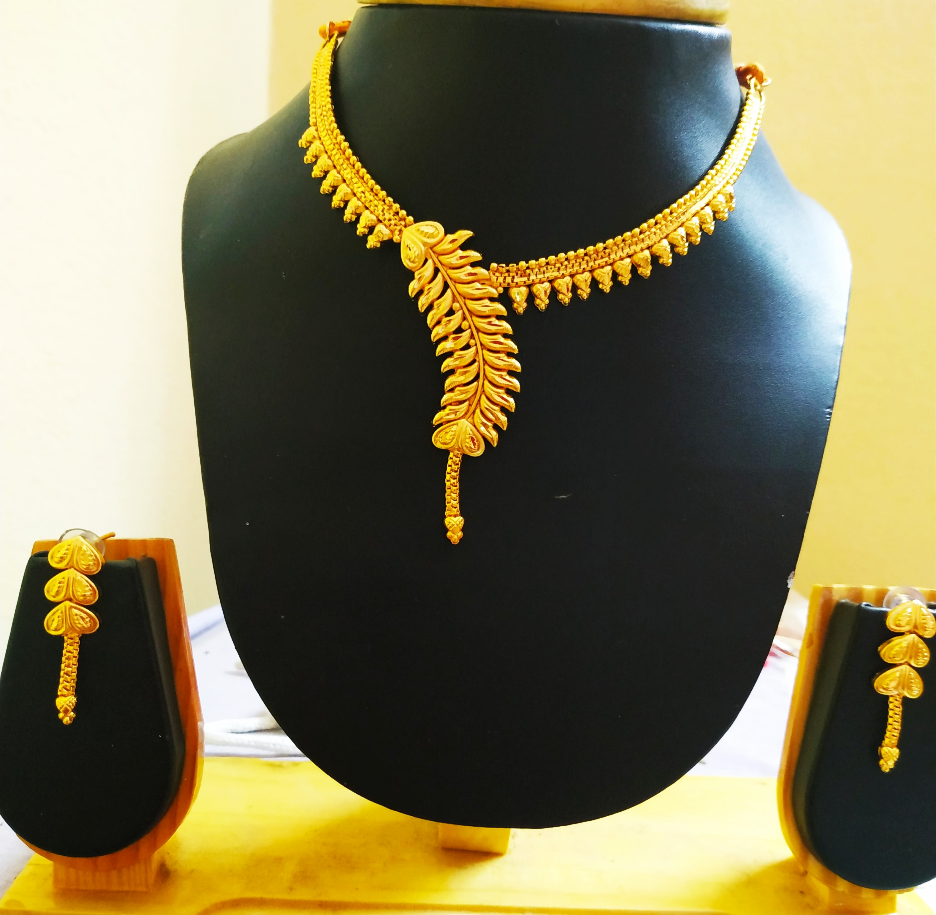 One Gram Gold Plated Ethnic Necklace Set