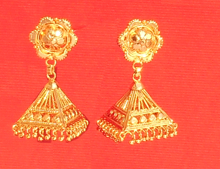 Traditional Ethnic One Gram Gold Plated Jhumki Earrings For Women