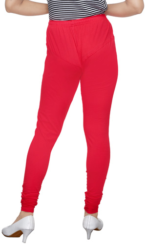 Crimson Red Churidar Leggings