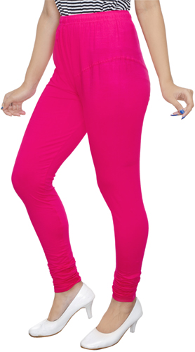 Pink Churidar Leggings