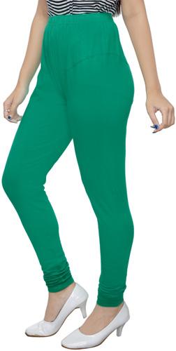 Green Churidar Leggings