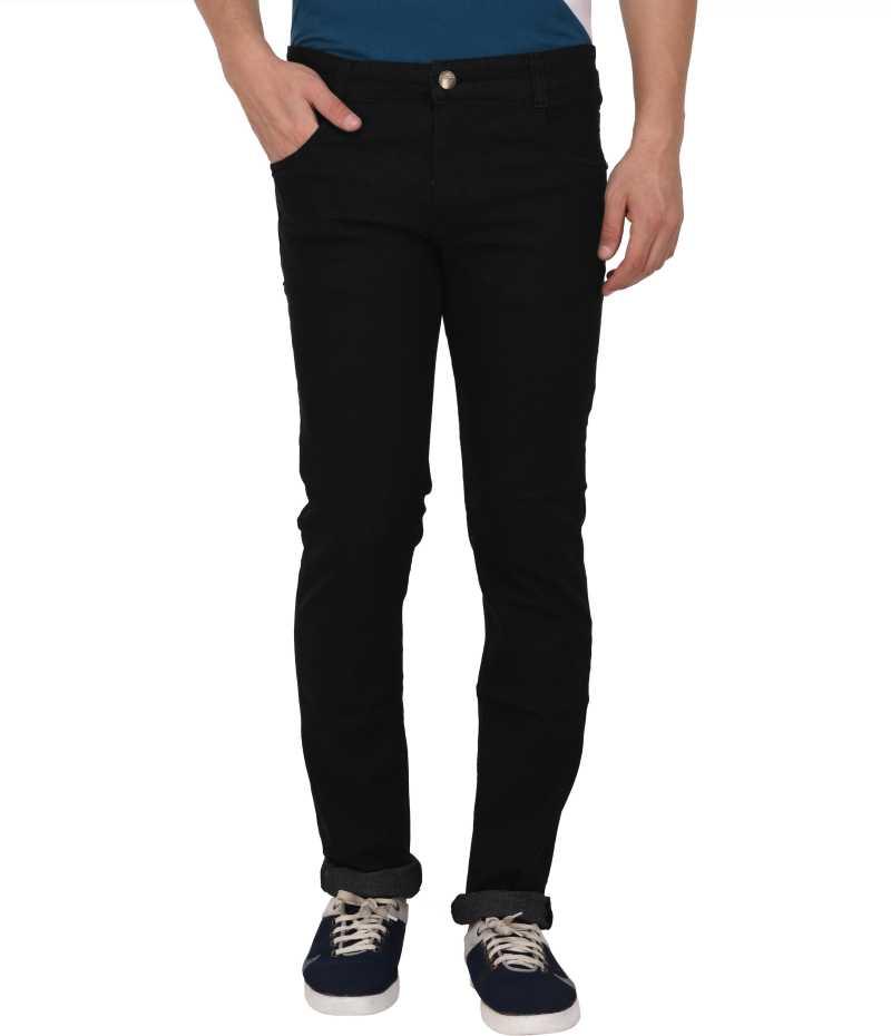 Regular Fit Men Black Jeans