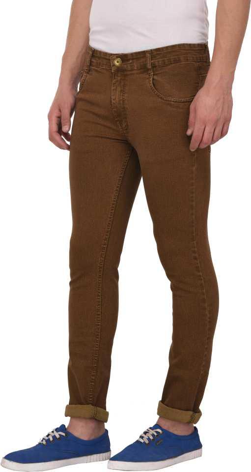 Regular Fit Men Brown Jeans