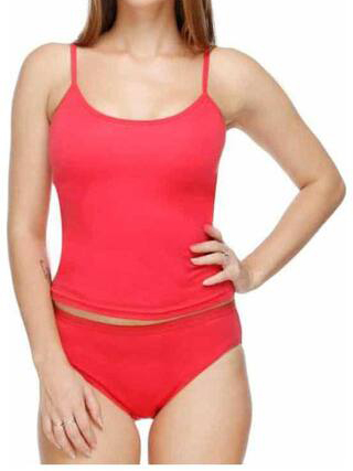 Stoc Red Cotton Camisole Slip