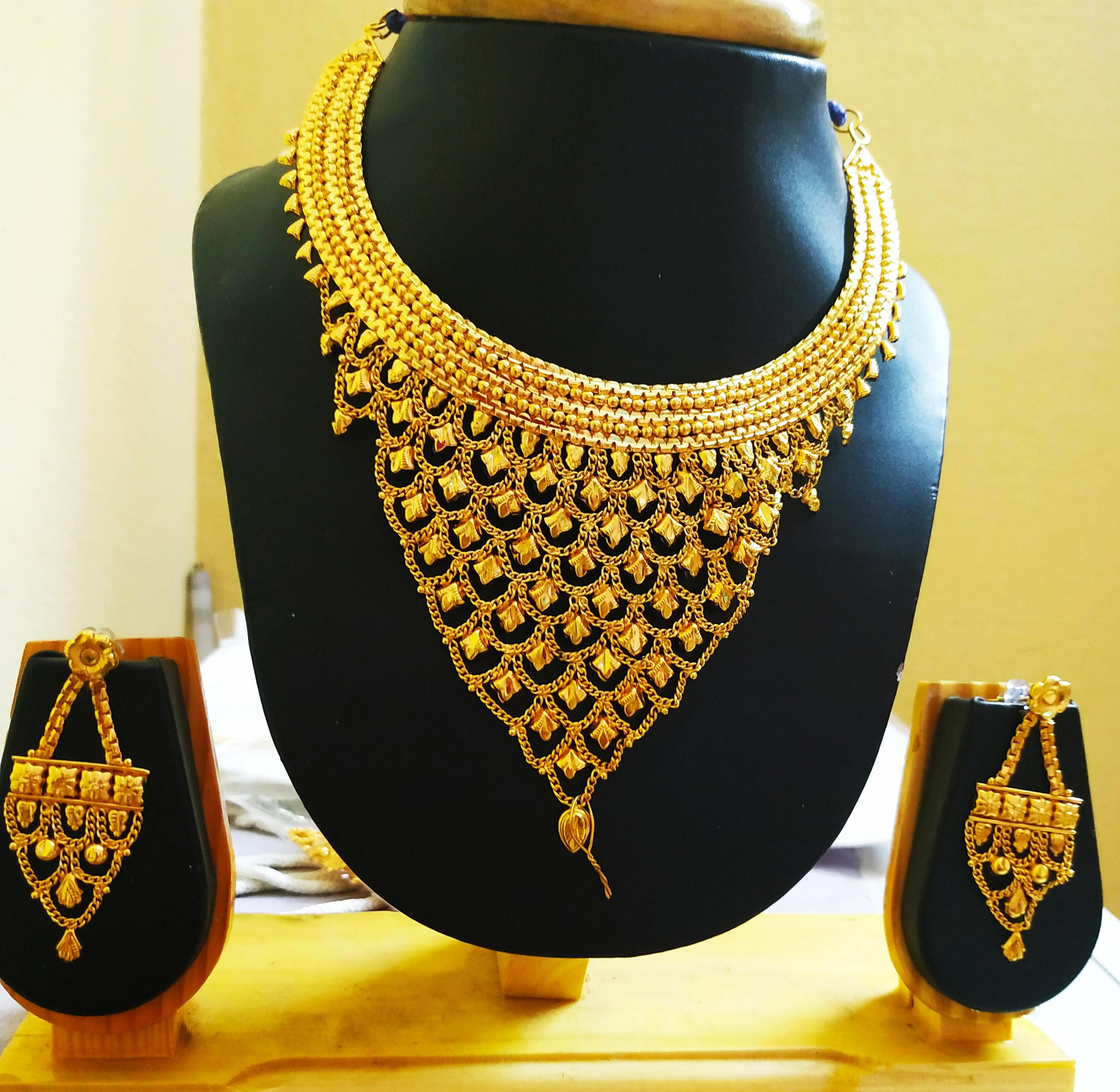 Traditional Ethnic One Gram Gold Plated Necklace Set