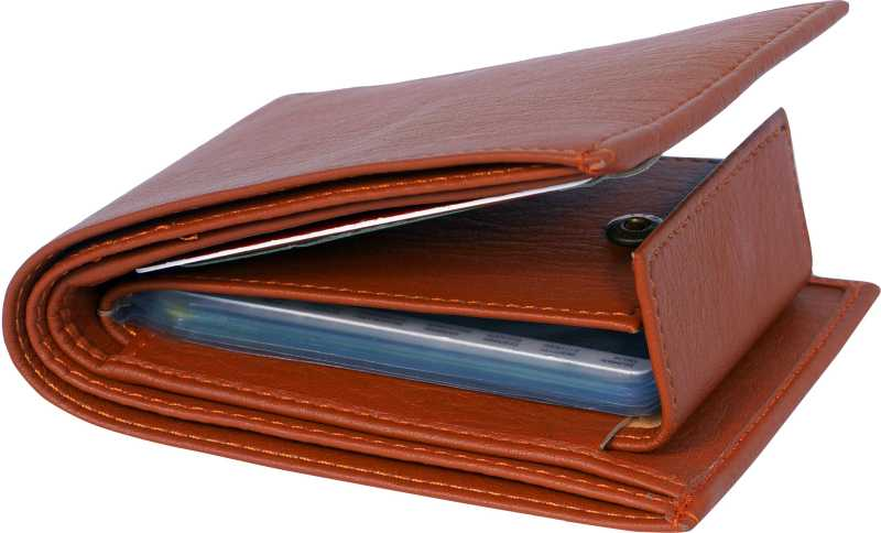 Men Casual Trendy Tan Artificial Leather Wallet