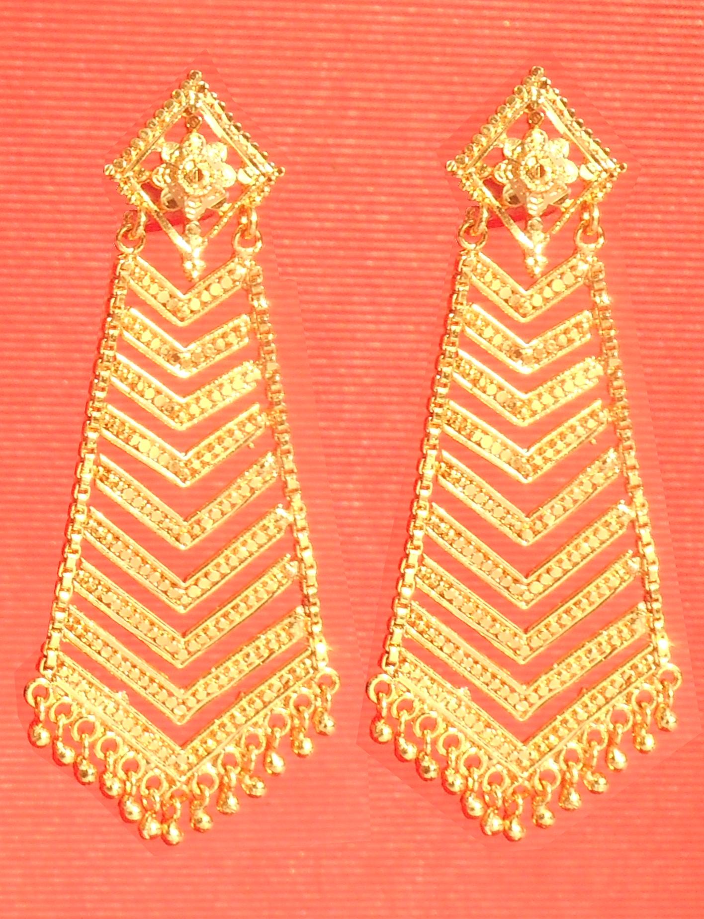 One Gram Gold Plated Earrings Set For Women Alloy Jhumka Earring