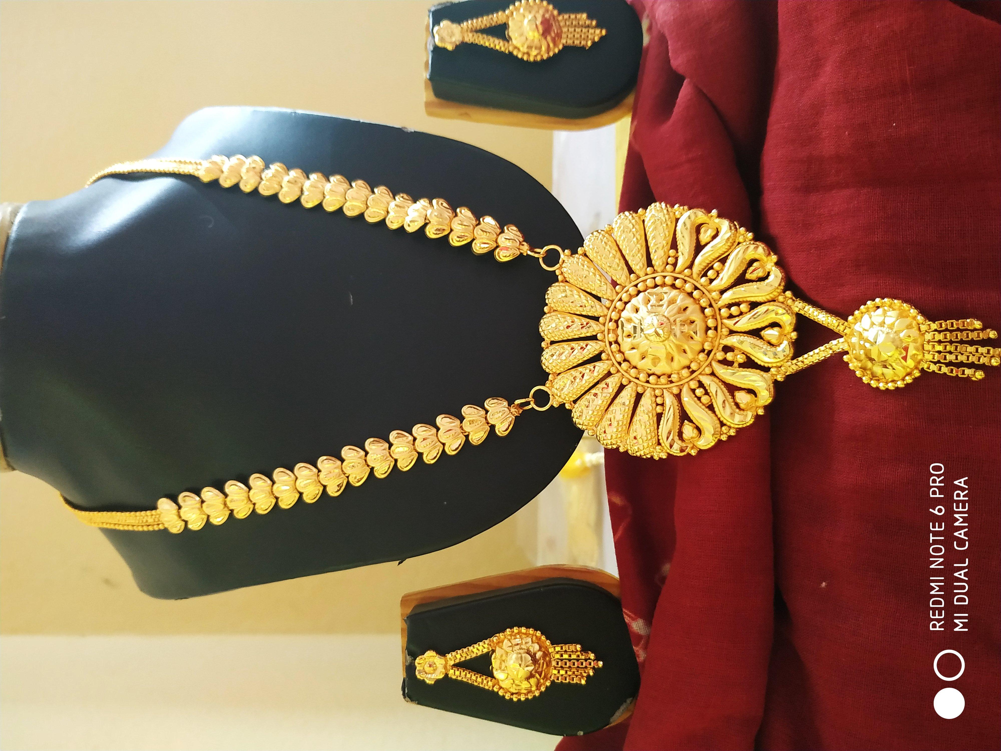 Bridal gold plated sitahar