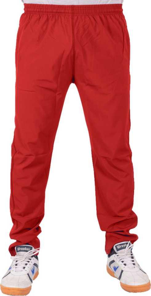 Solid Men Red Track Pants