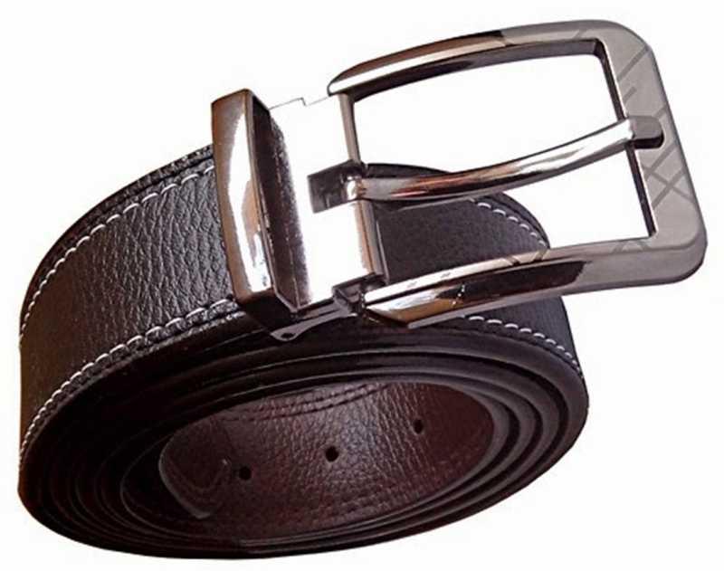 Men Formal Black Synthetic Belt