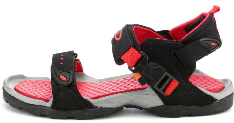Men Black Red Casual Sandal
