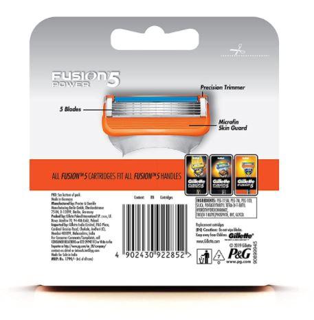 Gillette Fusion Manual Shaving Razor Blades - 8s Pack