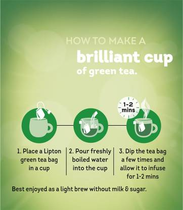 Lipton Tulsi Natura Green Tea Bags Box  (25 Bags)