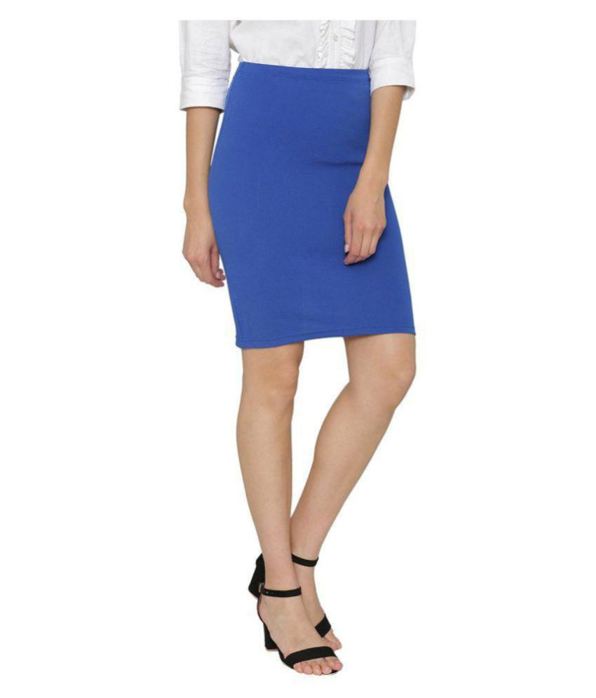 Stoc Women Blue Skirt