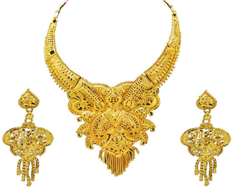 Gold Plated  Alloy Necklace Set