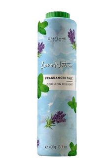 Oriflame Love Nature Fragtanced Talc Cooling Delight- 400 gm