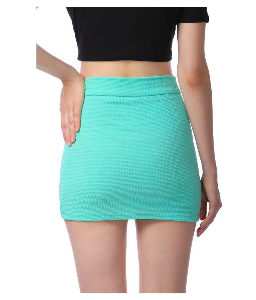 Stoc Women Green Skirt