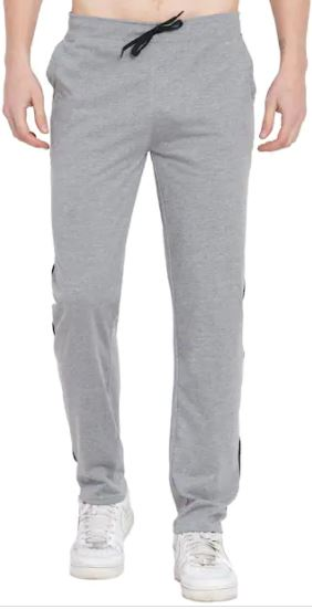 Men Grey Solid Slim fit Track pants