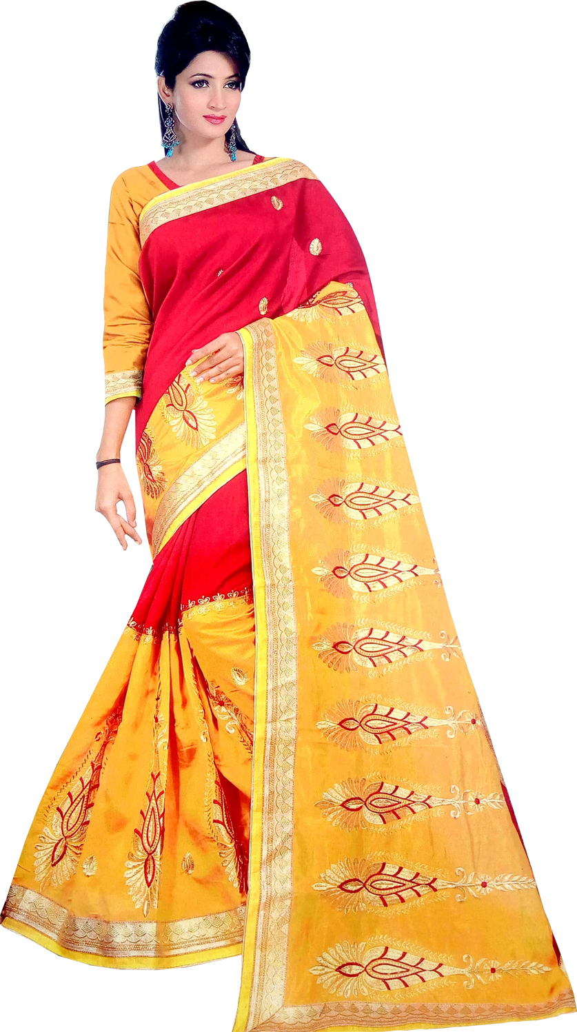 Embroidered Synthetic fancy saree