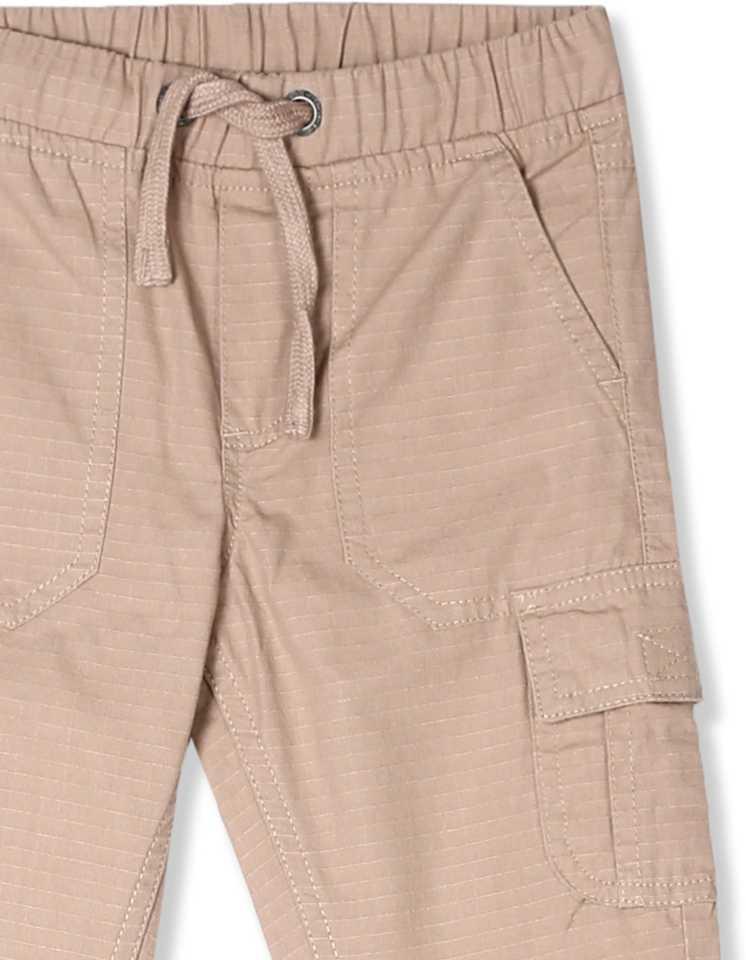 Regular Fit Boys Beige Cotton Blend Trousers