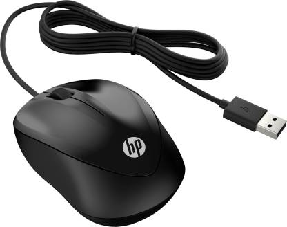 HP 1000 Wired Optical Mouse  (USB 3.0, USB 2.0, Black)