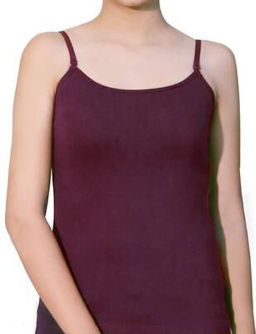 Stoc Purple Cotton Camisole Slip