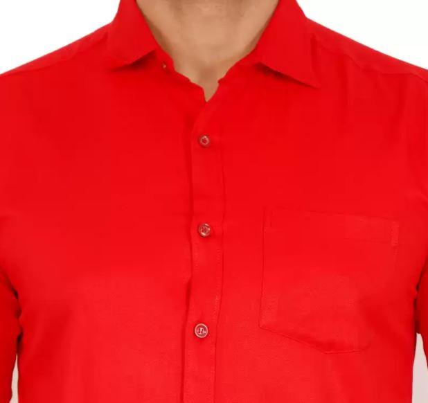 Men Regular Fit Solid Casual Shirt