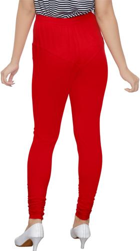 Red Churidar Leggings