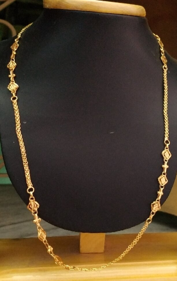 1gm Gold plated design chain