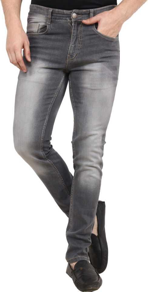 Slim Fit Men Grey Jeans