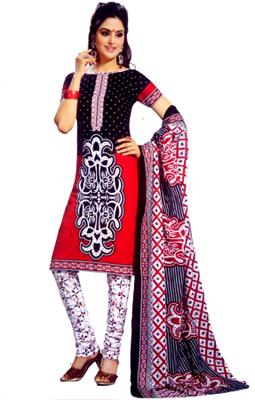Stoc Bazzar Retail Cotton Printed Salwar Suit Dupatta Material  (Un-stitched)