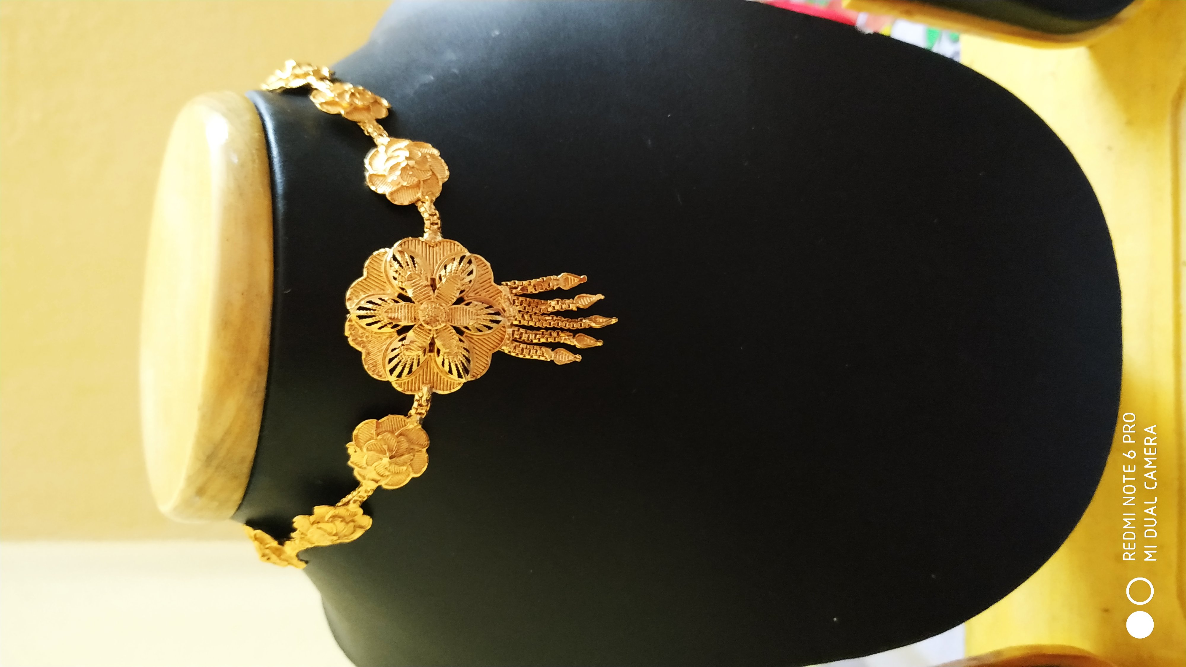 Ethnic One Gram Gold Plated Floral Designing Chik