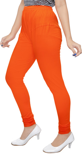 Orange Churidar Leggings