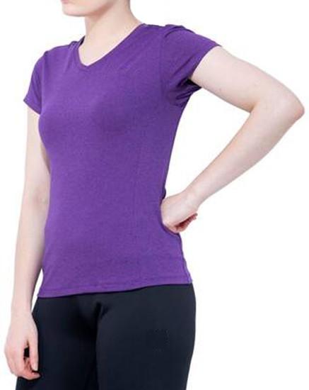 Stoc Women Purple Sports T-Shirt