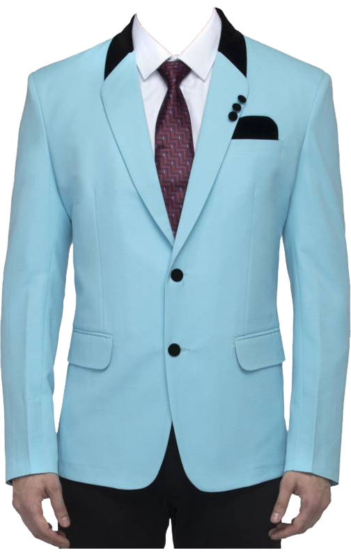 Stoc Solid Single Breasted Party, Casual Men's Blazer  (Blue)