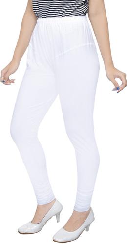 White Churidar Leggings