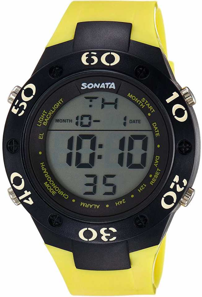 Sonata Digital Watch NH77035PP03 For Men