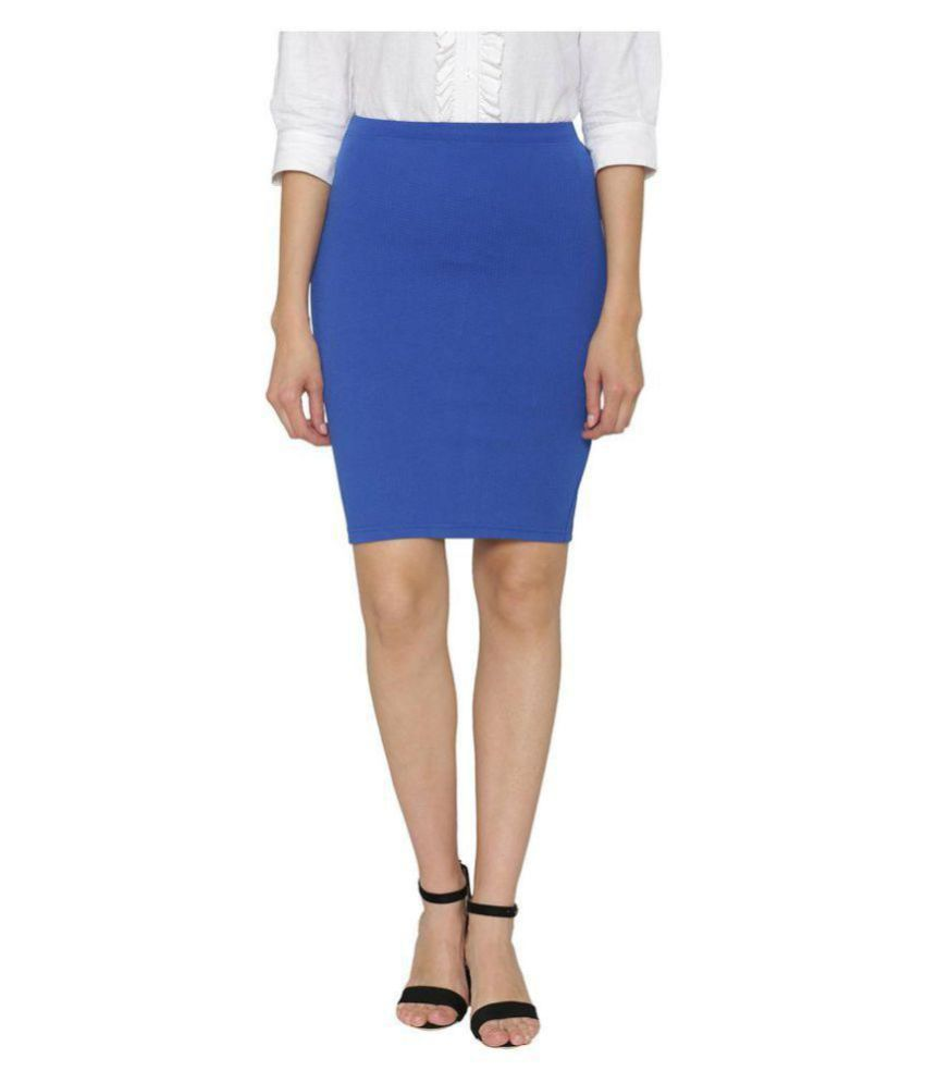 Stoc Women Blue Skirt