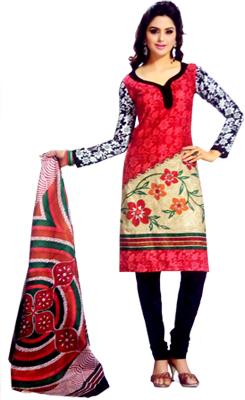 Stoc Bazzar Cotton Printed Salwar Suit Dupatta Material  (Un-stitched)