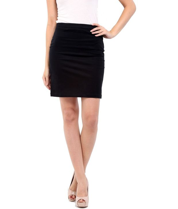 Stoc Women Black Skirt