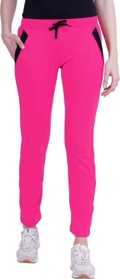 Solid Women Pink Track Pants
